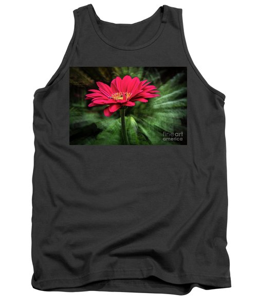 Spiral Pink Flower Focus Tank Top