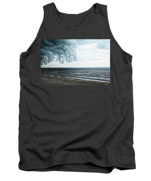 Spiraling Storm Clouds Over Daytona Beach, Florida Tank Top