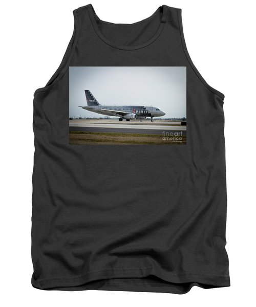 Tank Top featuring the photograph Spirit Airlines A319 Airbus N523nk Airplane Art by Reid Callaway