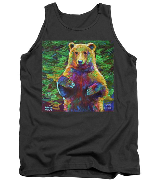 Tank Top featuring the painting Spirit Bear by Robert Phelps