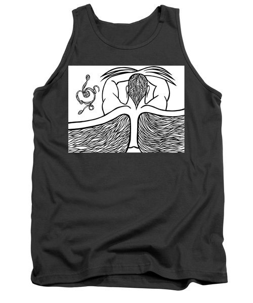 Tank Top featuring the drawing Spirit by Jamie Lynn