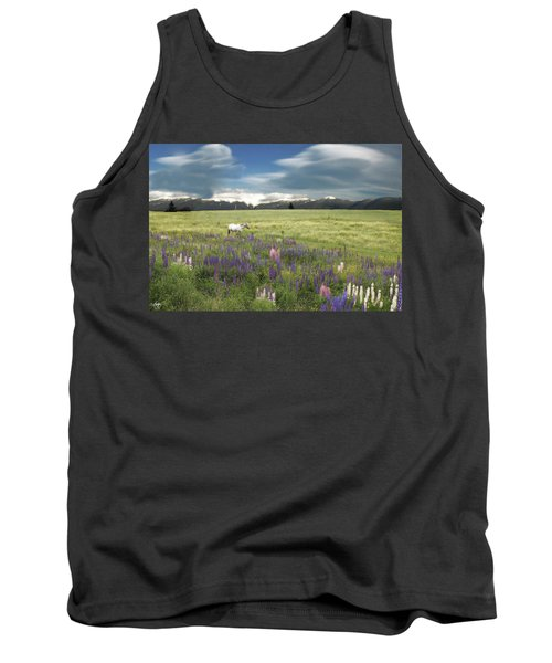Spirit Pony In High Country Lupine Field Tank Top