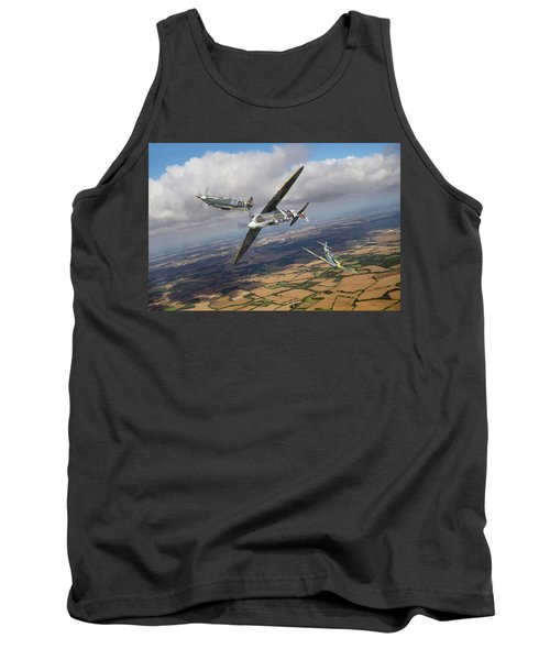 Tank Top featuring the photograph Spitfire Tr 9 Fighter Affiliation by Gary Eason