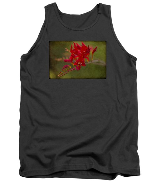 Splash Of Red. Tank Top by Clare Bambers