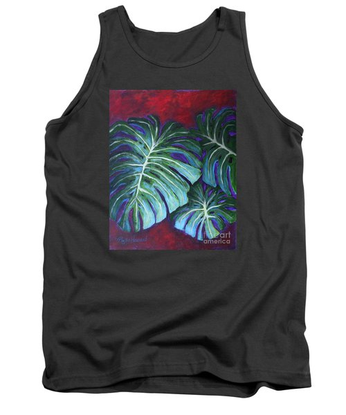 Split Leaf Philodendron Tank Top by Phyllis Howard