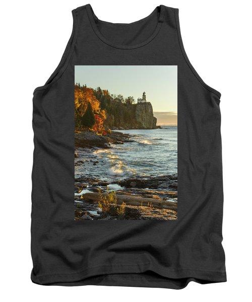 Split Rock Lighthouse At Sunrose Tank Top