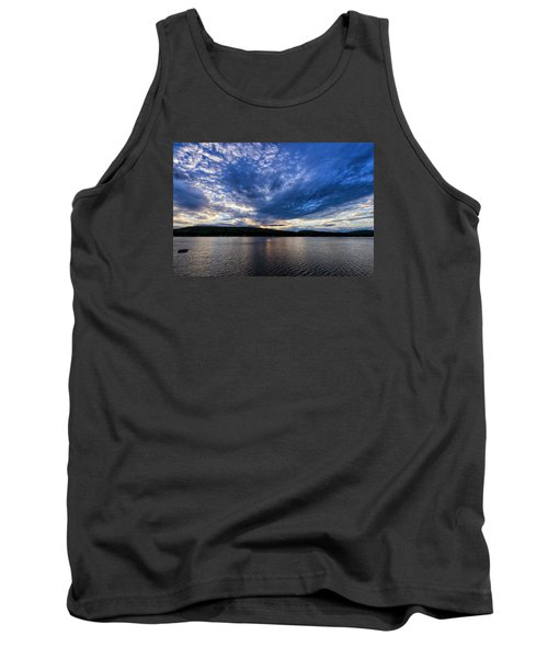 Tank Top featuring the photograph Spofford Lake Sunrise by Tom Singleton