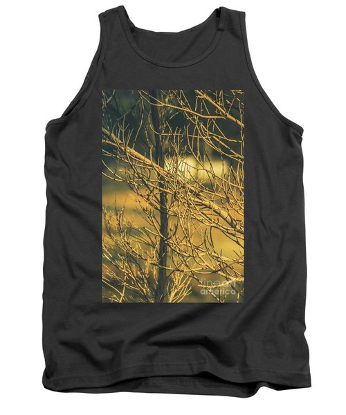 Spooky Country House Obscured By Vegetation  Tank Top