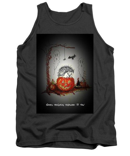 Spooky Hedgehog Halloween Tank Top