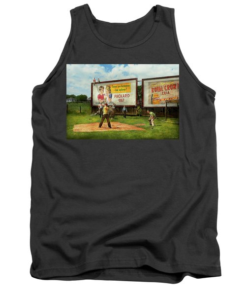 Sport - Baseball - America's Past Time 1943 Tank Top by Mike Savad