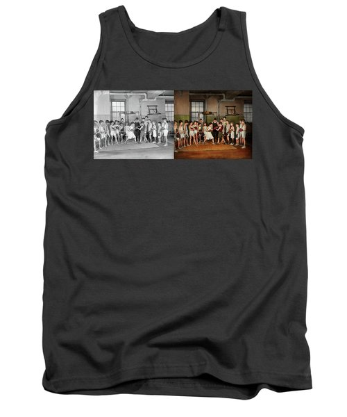 Tank Top featuring the photograph Sport - Boxing - Fists Of Fury 1924 - Side By Side by Mike Savad