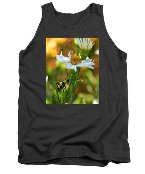 Spotted Cucumber Beetle On Aster Tank Top