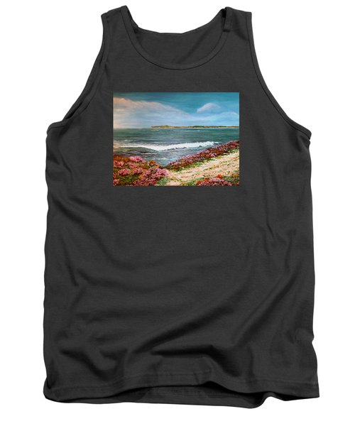 Tank Top featuring the painting Spring At Half Moon Bay by Dee Davis