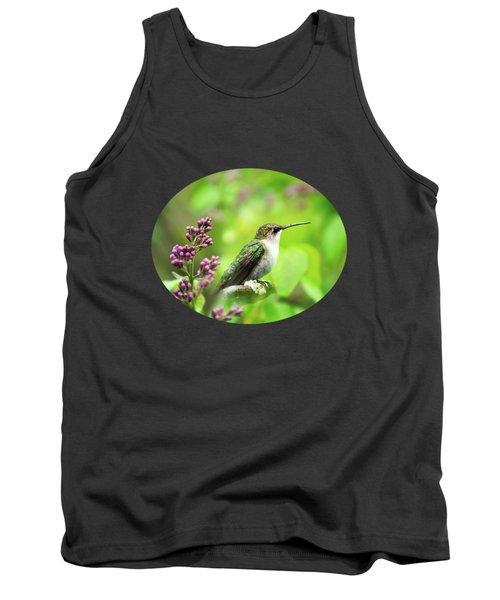 Spring Beauty Ruby Throat Hummingbird Tank Top