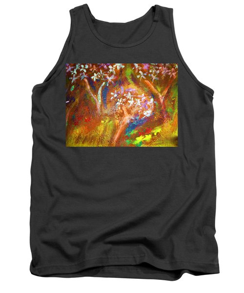 Tank Top featuring the painting Spring Blossom by Winsome Gunning