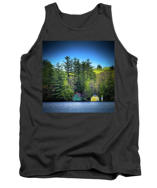 Spring Day At Old Forge Pond Tank Top by David Patterson