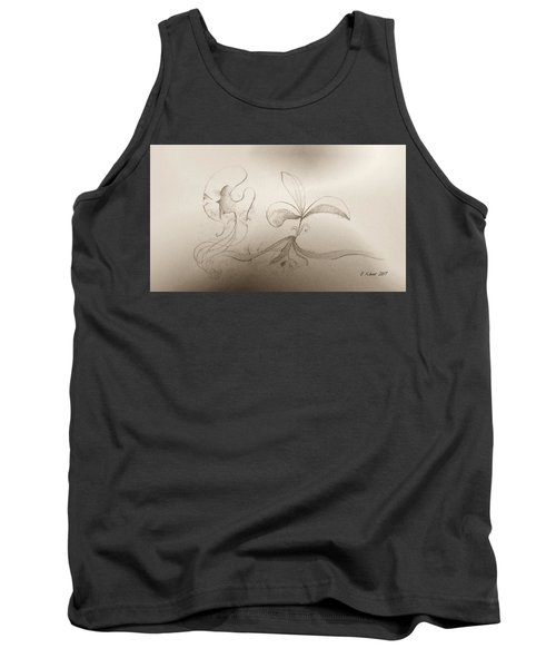 Tank Top featuring the mixed media Spring Feelings 2 by Denise Fulmer
