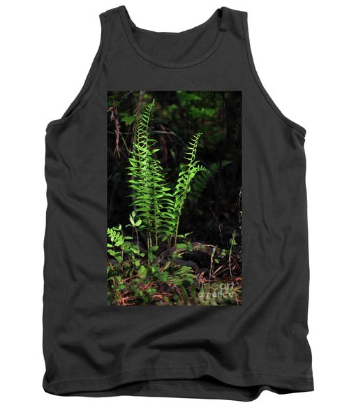 Tank Top featuring the photograph Spring Ferns by Skip Willits