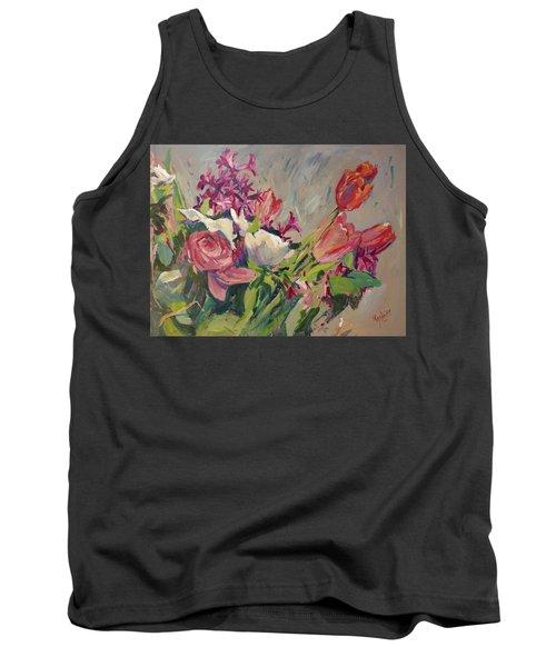 Spring Flowers Bouquet Tank Top