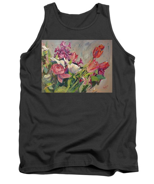 Spring Flowers Bouquet Tank Top