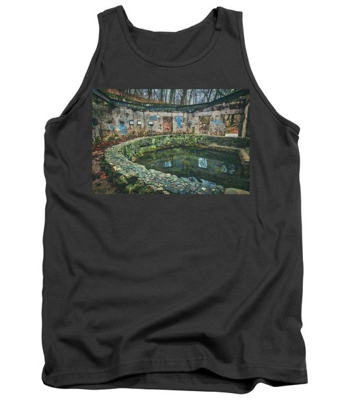 Tank Top featuring the photograph Spring House 2 - Paradise Springs - Kettle Moraine State Forest by Jennifer Rondinelli Reilly - Fine Art Photography