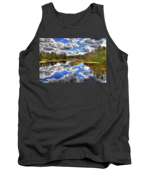 Spring Morning At The Green Bridge Tank Top by David Patterson