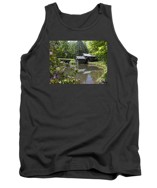 Spring Reflections Of An Ancient Mill Tank Top