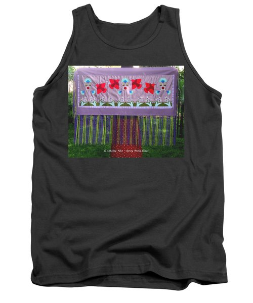 Tank Top featuring the tapestry - textile Spring Rising by Chholing Taha