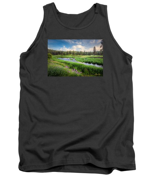 Tank Top featuring the photograph Spring River Valley by Rikk Flohr