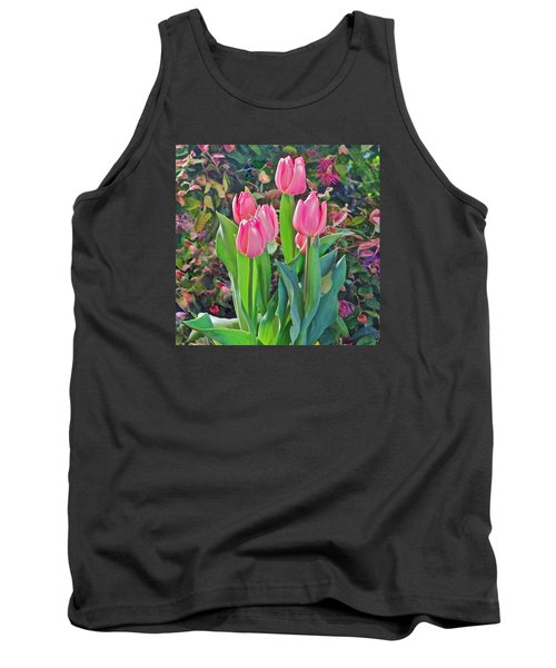 Spring Show 14 Pink Tulips  Tank Top