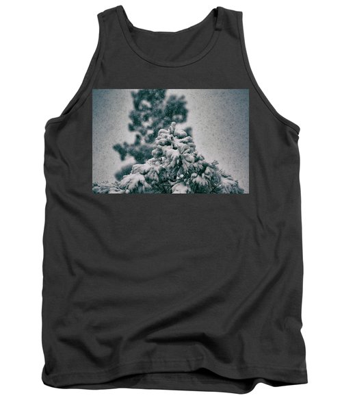Spring Snowstorm On The Treetops Tank Top by Jason Coward