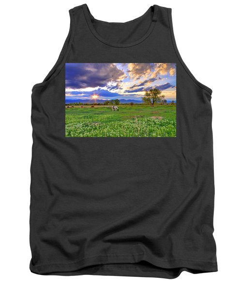 Spring Sunset Over The Rockies Tank Top by Scott Mahon