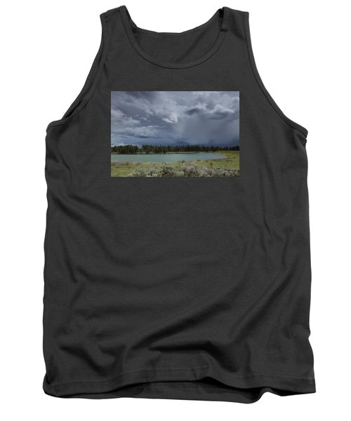 Spring Thunderstorm At Yellowstone Tank Top