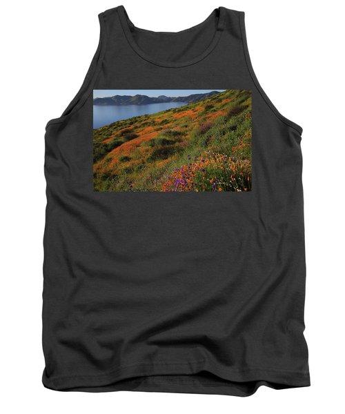 Spring Wildflower Season At Diamond Lake In California Tank Top
