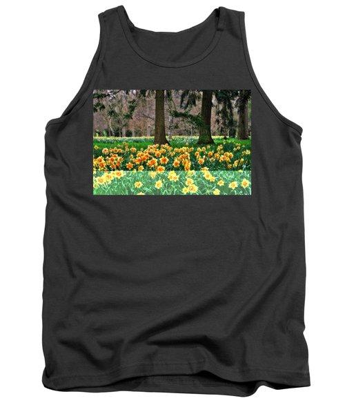 Spring Woodland Daffodils Tank Top
