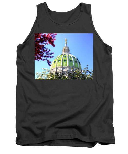 Tank Top featuring the photograph Spring's Arrival At The Pennsylvania Capitol by Shelley Neff
