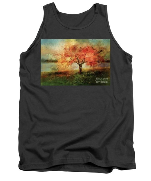Tank Top featuring the digital art Sprinkled With Spring by Lois Bryan