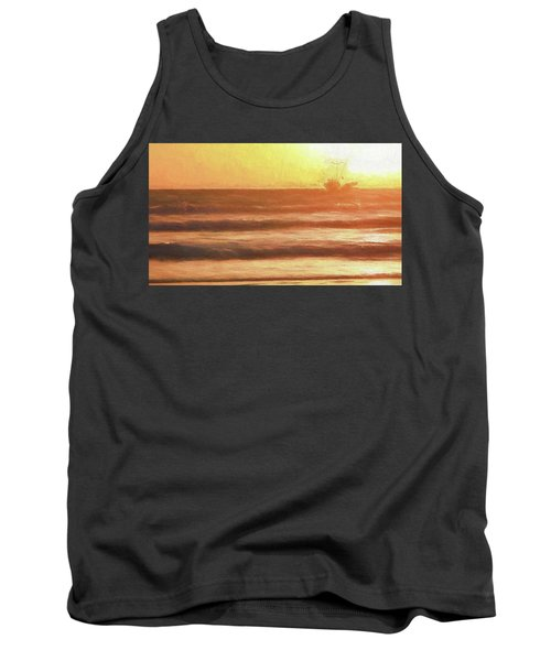 Squid Boat Sunset Tank Top