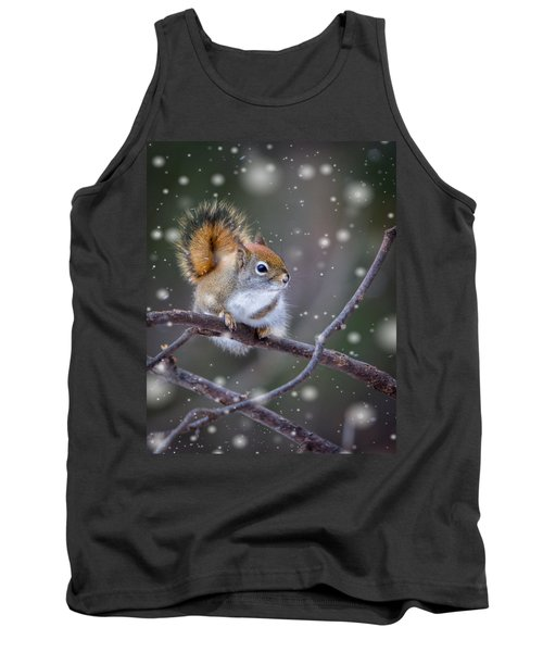 Squirrel Balancing Act Tank Top by Patti Deters