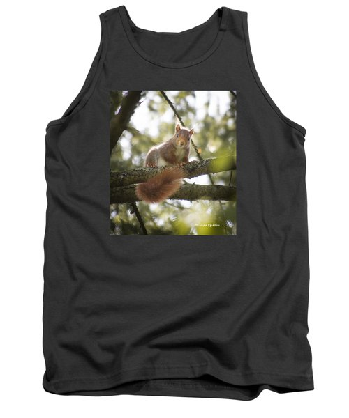 Tank Top featuring the photograph Squirrel On The Spot by Stwayne Keubrick