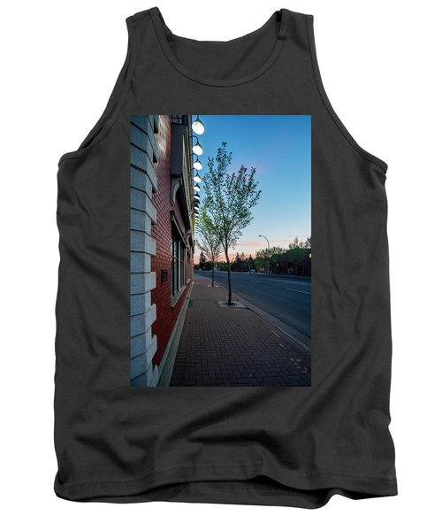 Tank Top featuring the photograph St. Anne Street At Dusk by Darcy Michaelchuk