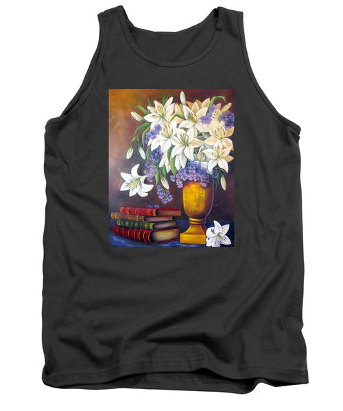 St. Anthony's Lilies Tank Top by Katia Aho