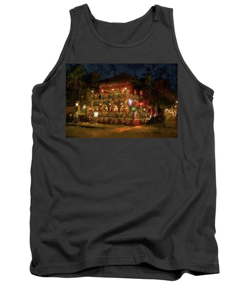 Tank Top featuring the photograph  St. Augustine Meehan's Pub by Louis Ferreira