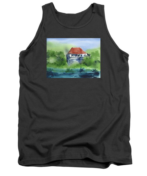 Tank Top featuring the painting St Johns Rental by Frank Bright