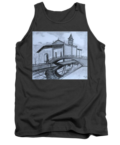St. Jules Cathedral  Tank Top by Tony Clark