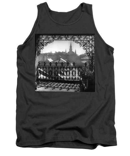 St Louis Cathedral In Frame Tank Top