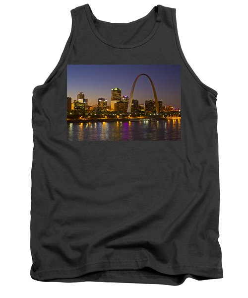 St Louis Skyline From Poplar Street Bridge Tank Top