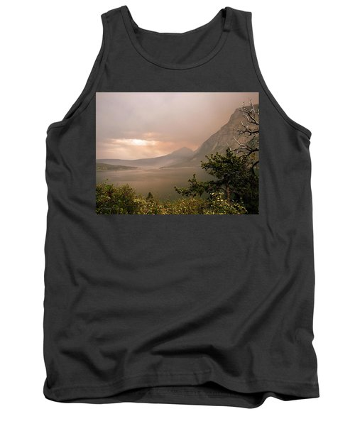 St Mary Lake In The Smoke Tank Top