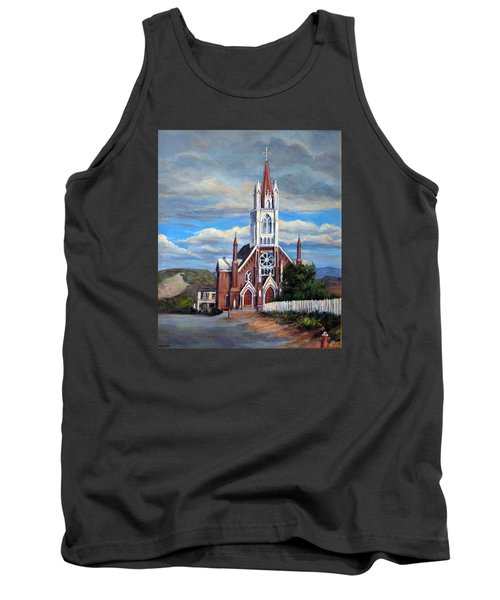 Tank Top featuring the painting St. Mary Of The Mountains by Donna Tucker