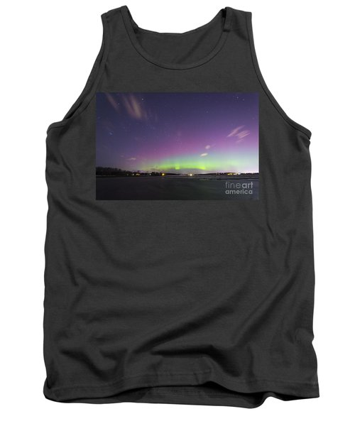 St. Patrick's Day Aurora 2015 Tank Top by Patrick M Fennell